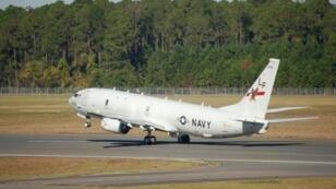 طائرة بوسيدون بي-8 تابعة للبحرية الأمريكية في فلوريدا في 29 نوفمبر 2013