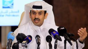 Le nouveau ministre de l'Énergie du Qatar, Saad al-Kaabi, lors d'une conférence de presse à Doha.