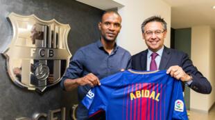 Éric Abidal occupait depuis juin 2017 un poste d'ambassadeur du club catalan.