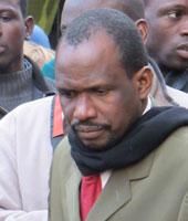 Kondiouria Konate, délégué du piquet de grève installé depuis le 15décembre dans un bâtiment du VIe arrondissement de Paris.