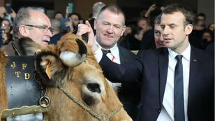Le président Emmanuel Macron au Salon de l'agriculture, son premier en tant que chef de l'État.