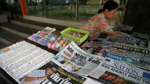 """Les """"unes"""" de la presse thaïlandaise, le 25 mars 2019, au lendemain des élections législatives."""