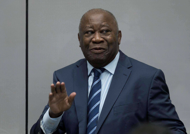 El expresidente de Costa de Marfil, Laurent Gbagbo, comparece ante la Corte Penal Internacional en La Haya, Países Bajos, el 15 de enero de 2019.