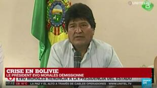 Evo Morales a annoncé sa démission le 10novembre2019.
