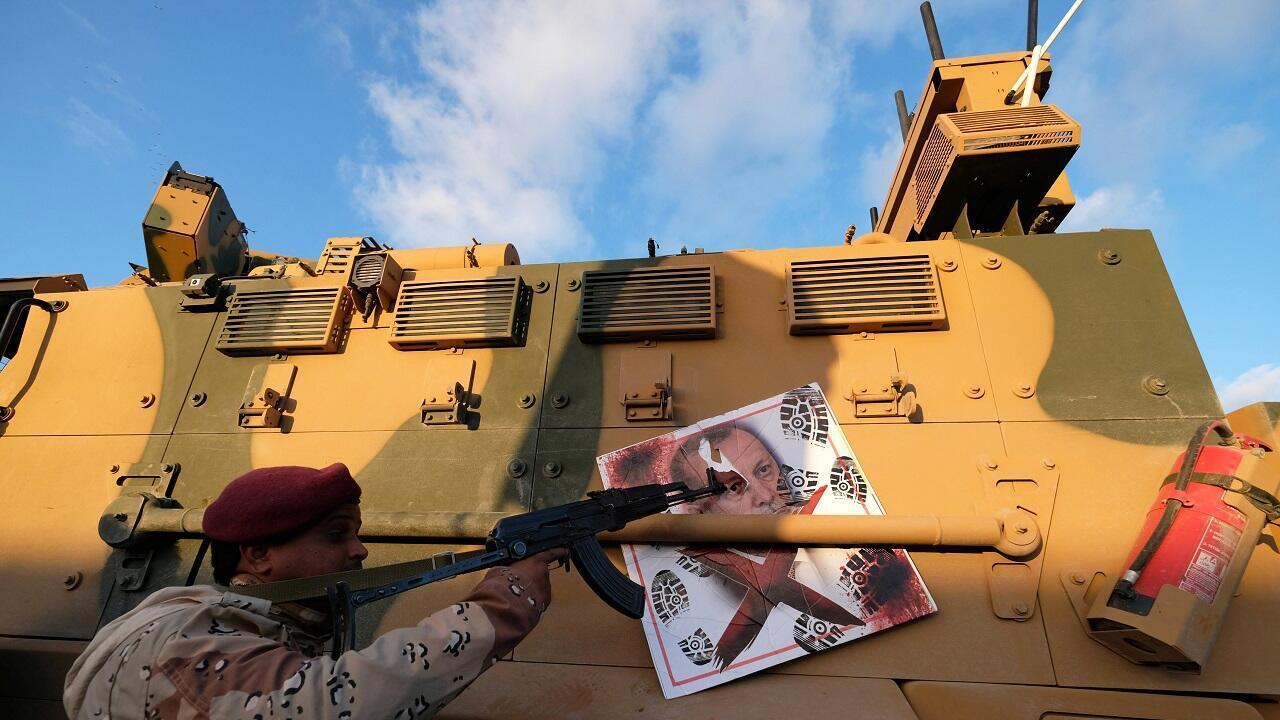 قوات موالية للمشير خليفة حفتر. بنغازي، ليبيا 28 يناير/كانون الثاني 2020.