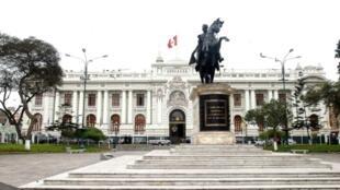 Vista de la sede del Congreso peruano, el 14 de septiembre de 2017