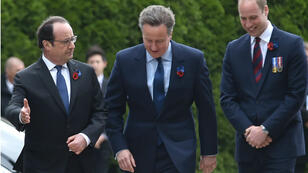 Les cérémonies de commémoration du centenaire de la bataille de la Somme se déroulent au mémorial franco-britannique de Thiepval.