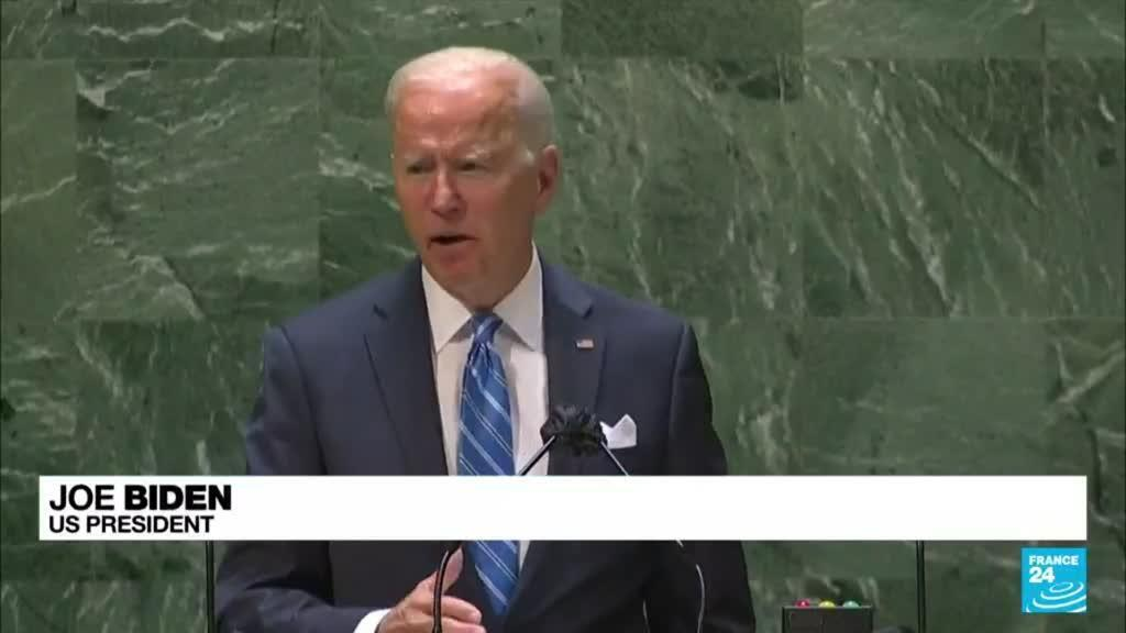2021-09-22 09:05 UN General Assembly: Biden says US not seeking 'Cold War' as he vows to lead