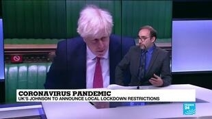 2020-10-12 11:05 Coronavirus pandemic: British PM Johnson to unveil new measures amid rising cases