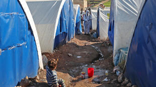 The hundreds of thousands of displaced civilians living in camps in rebel-held northwestern Syria do their best to protect themselves against the coronavirus but the tightly spaced tents and intermittent water supply make it difficult