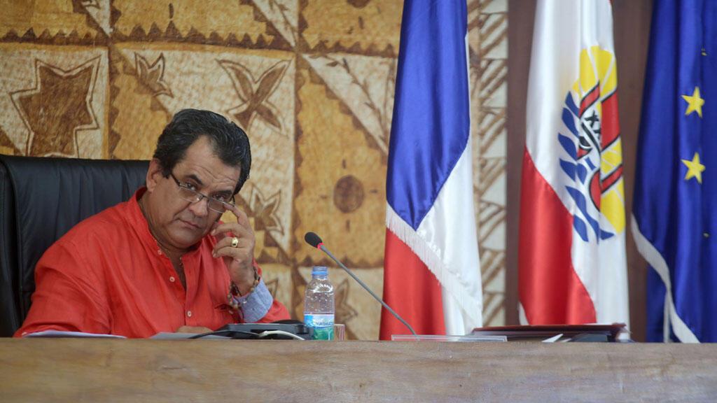 Edouard Fritch, avant son élection à la présidence de la Polynésie française, le 21 juillet 2014.