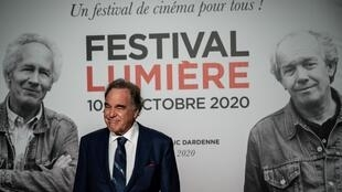 Le réalisateur Oliver Stone à la cérémonie d'ouverture de la 12e édition du Festival du film Lumière à Lyon, le 10 octobre 2020