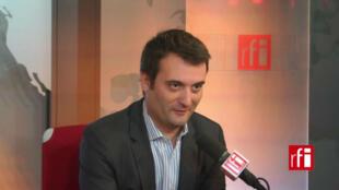 Florian Philippot, député européen et vice-président du Front national.