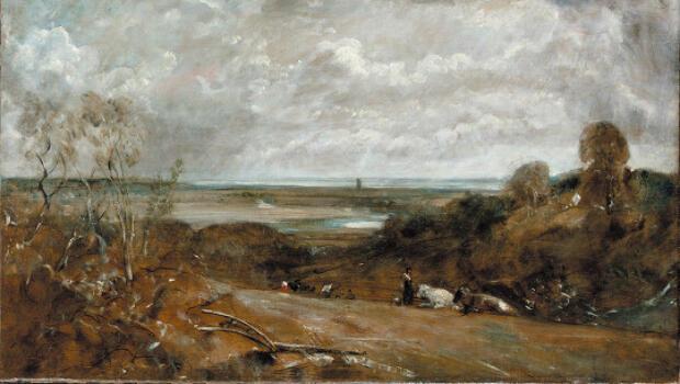Dedham depuis Langham, une huile de John Constable (1776-1837)