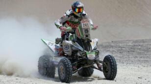 El piloto chileno de quads Ignacio Casale participa durante la segunda etapa del Dakar 2018 el 7 de enero de 2018