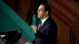 رئيس الحكومة التونسي يوسف الشاهد في البرلمان، 18 ت2/نوفمبر 2016
