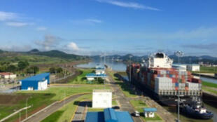 La ampliación del Canal de Panamá, vista desde la Torre de Control de Cocolí, en Ciudad de Panamá, el 5 de septiembre de 2018.