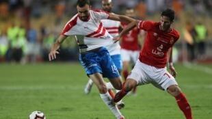 مباراة الأهلي والزمالك في ستاد برج العرب بالإسكندرية 20 سبتمبر /أيلول 2019.