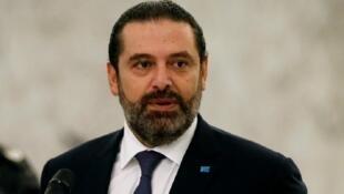 رئيس حكومة تصريف الأعمال سعد الحريري في السابع من تشرين الثاني/ نوفمبر 2019