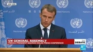 Un General Assembly French President Emmanuel Macron Holds Press Conference France 24