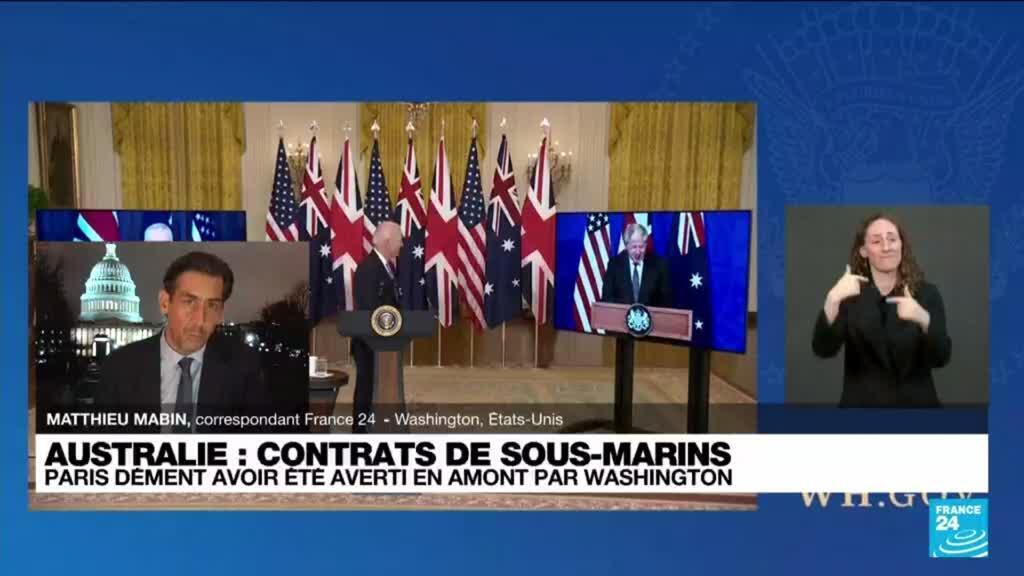 2021-09-17 10:02 Crise des sous-marins australiens : Washington tente d'apaiser la colère de Paris
