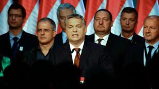 Viktor Orban le 2 octobre à Budapest après l'invalidation du référendum sur le relocalisation des réfugiés au sein de l'UE.