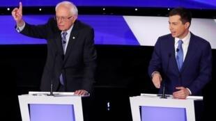 Bernie Sanders Pete Buttigieg