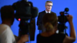 Le ministre allemand de l'Intérieur Thomas de Maizière a donné une conférence de presse à Berlin le 13 septembre 2016.
