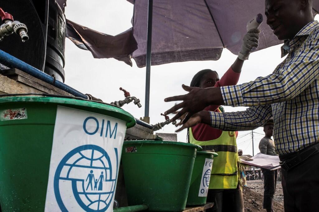 Uno de los puntos de control sanitario habilitados en Goma, en la República Democrática del Congo, como medida de precaución para combatir la propagación del ébola el 15 de julio de 2019.