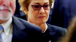 Former U.S. ambassador to Ukraine Marie Yovanovitch arrives to testify in the U.S. House of Representatives impeachment inquiry into U.S. President Trump on Capitol Hill in Washington, U.S., October 11, 2019.