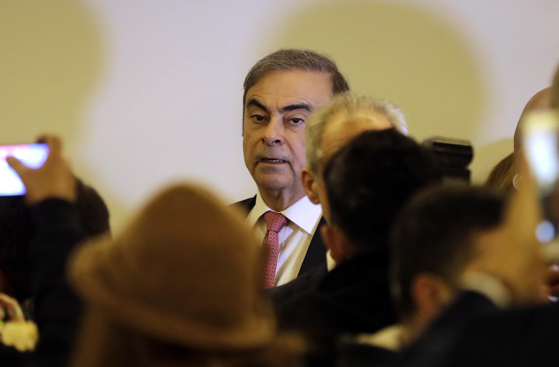 كارلوس غصن في بيروت، لبنان 8 يناير/كانون الثاني 2020.