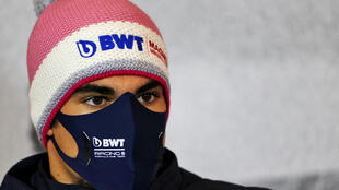 Lance Stroll during the drivers' press conference for the Eifel Grand Prix
