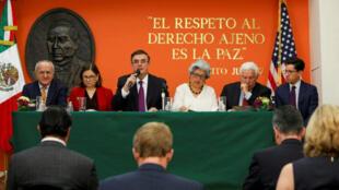 Una delegación del Gobierno mexicano se encuentra en Washington para negociar el futuro comercial de ambas naciones tras la amenaza de imporner aranceles a las importaciones, el 3 de junio de 2019.