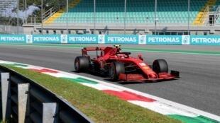 Leclerc before his crash