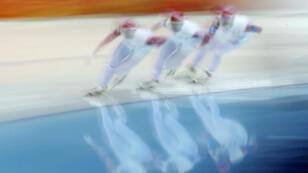 Des athlètes russes durant les JO de Sotchi en 2014.