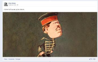 """Léon Vivien publie les caricatures """"anti-allemandes"""" de l'époque"""