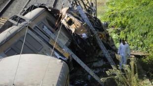 L'accident s'est produit avant l'entrée du train dans la petite gare de Porriño.