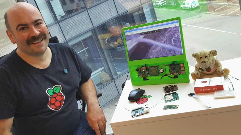 Alan McCullagh, un des ambassadeurs de la communauté Raspberry Pi en France.