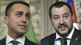 Luigi Di Maio (izqu) y Matteo Salvini (der) no dieron indicios sobre quién encabezaría el Gobierno o quiénes estarían a cargo de los ministerios más destacados.