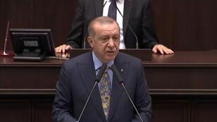 رجب طيب أردوغان يلقي خطابا أمام البرلمان التركي في 23/10/2018