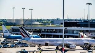 Avions d'Air France et KLM le 7 mai 2018 à Amsterdam
