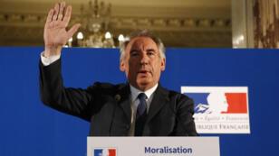 Le ministre de la Justice, François Bayrou, a esquissé les contours du projet de loi sur la moralisation de la vie publique, le 1er juin.