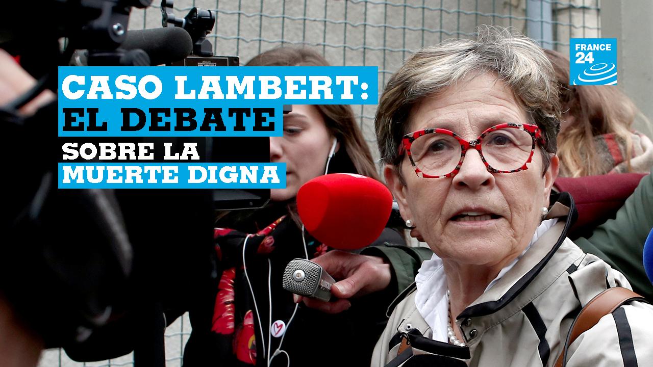 Viviane Lambert, madre del paciente tetrapléjico Vincent Lambert, quien ha estado en un estado vegetativo durante más de una década, llega al Hospital Sebastopol en Reims, Francia, el 20 de mayo de 2019.
