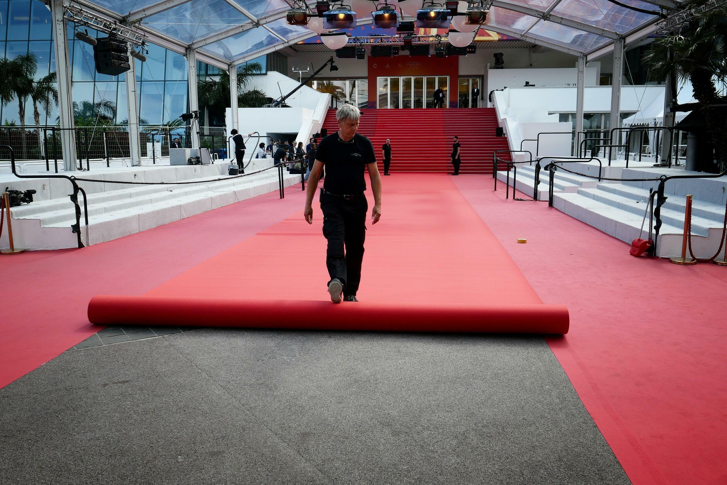 As part of the festival's efforts to go green, this year's Cannes red carpet will be half the size of that last seen in 2019