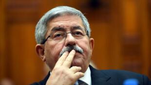 L'ex-Premier ministre algérien Ahmed Ouyahia lors d'une session du congrès en septembre2017.