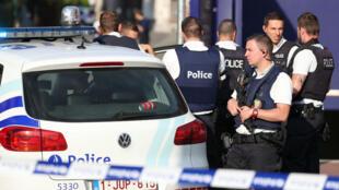 الشرطة البلجيكة في شارلوروا، في 6 آب/أغسطس 2016