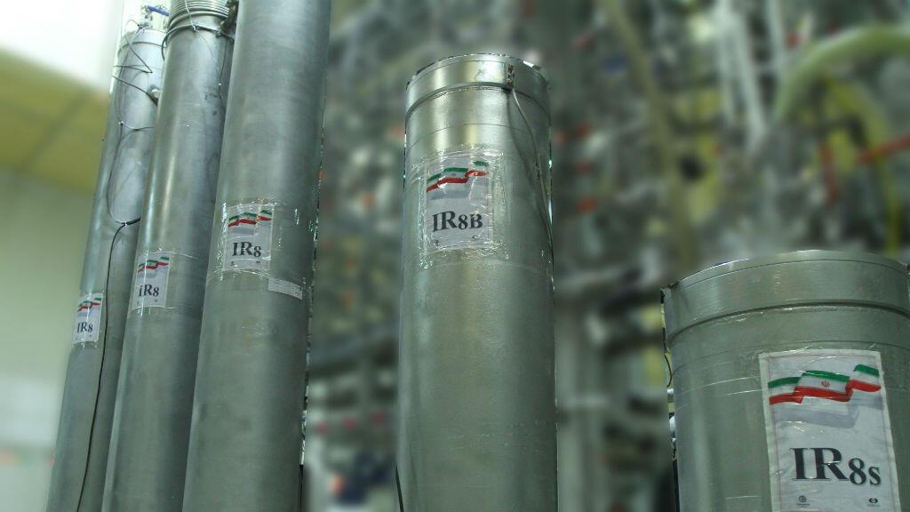 Imagen de las nuevas centrifugadoras IR-8 de la planta de energía nuclear de Natanz, en Natanz, Irán, el 4 de noviembre de 2019.