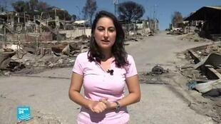 موفدة فرانس24 مايسة عواد وسط بقايا المخيم