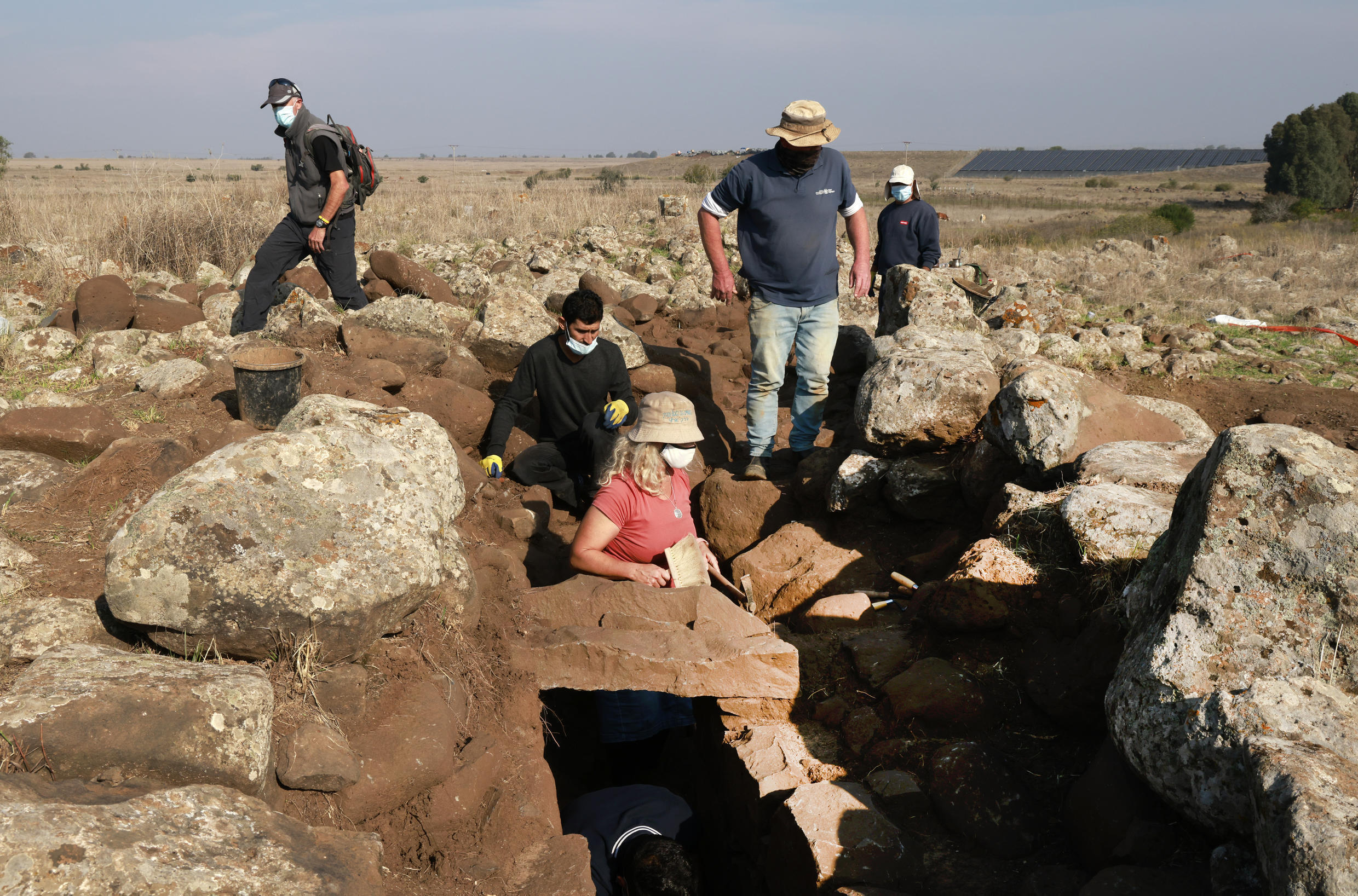 Israeli archaeologists unearth the remains of a 3,000-year-old fort in the occupied Golan Heights that they believe was built by an ally of the Biblical King David