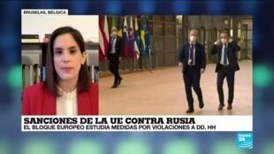 2021-02-22 13:38 Informe desde Bruselas: UE estudia paquete de sanciones a Rusia por violaciones a DD. HH.